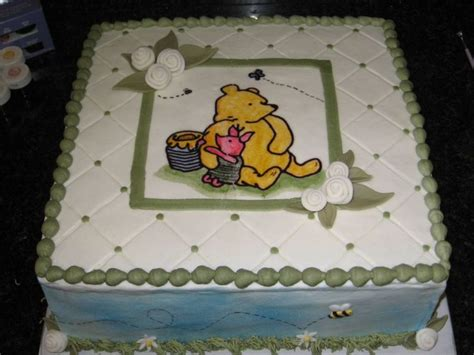 Classic Baby Shower Cakes by Classic Winnie The Pooh Baby Shower Cake Cakecentral