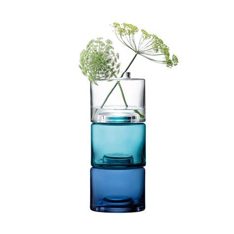 Amara Blus buy lsa international stack vase trio clear blues amara