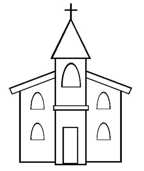 free church template or coloring page crafts children