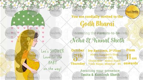 indian baby shower invitation cards templates indian baby shower invitation godh bharai invite