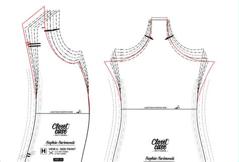 pattern grading up choosing a size and increasing the cup size for your