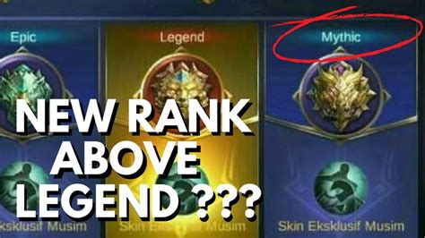 mobile legends rank new quot mythic quot rank division in mobile legends