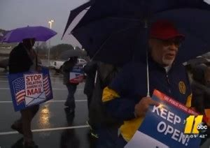 video: fayetteville postal workers protest downtown