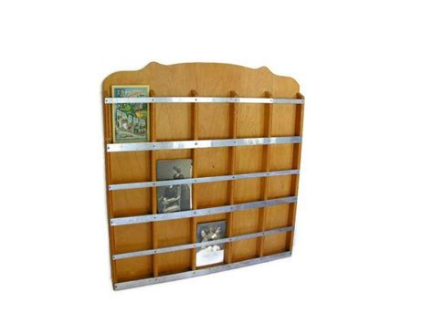 Postcard Display Rack by Vintage Postcard Display Wall Rack Photo Card Organization