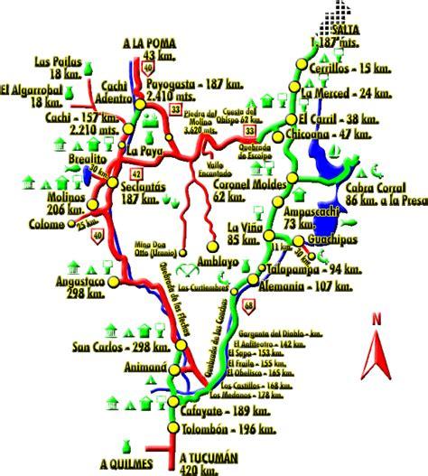 imagenes satelital quilmes mapa tur 237 stico de la vuelta a los valles calchaqu 237 es de