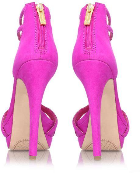 jessica simpson salvati high heel sandals  purple lyst