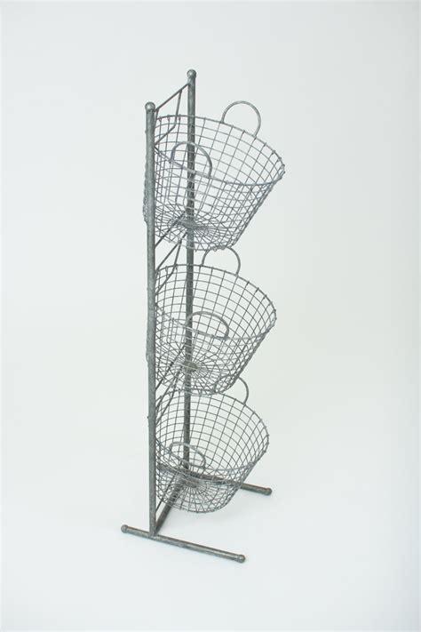 three tiered wire basket display