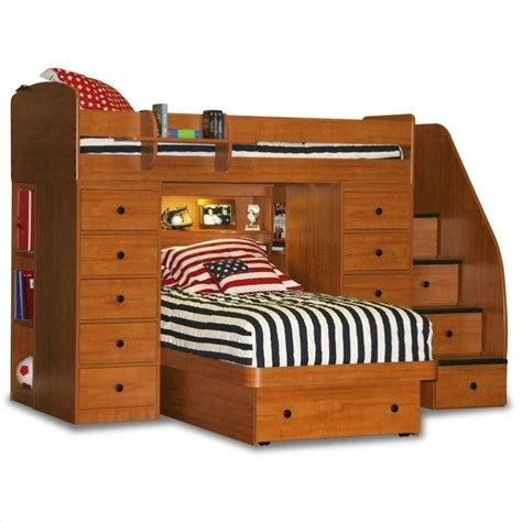 berg loft bed berg furniture sierra space saver twin over twin loft bed