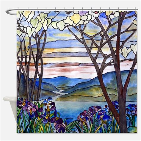 Stained Glass Shower Curtain by Stained Glass Shower Curtains Stained