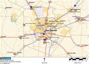 map of san antonio area san antonio