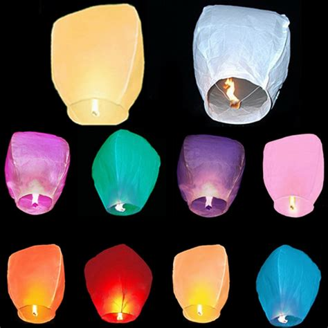 Selling Home Decor Online 2 pcs sky lantern fire fly kites paper hot balloon