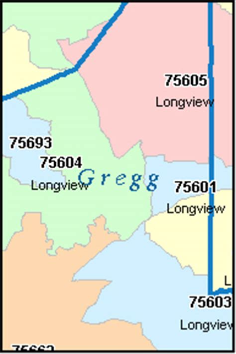 map of gregg county texas gregg county texas digital zip code map