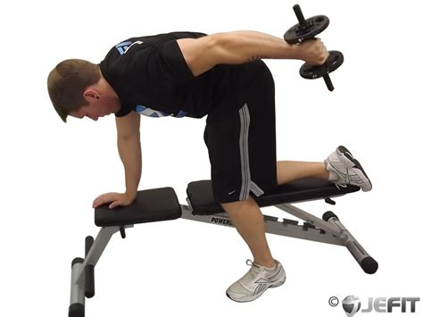 dumbbell tricep kickback exercise database jefit