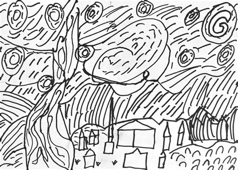 coloring pages van gogh starry starry night free coloring pages of van gogh starry night