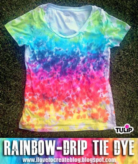 acrylic paint tie dye shirt rainbow drip tie dye shirt ilovetocreate