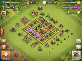 Clash of clans base designs town hall level 6 1337 wiki