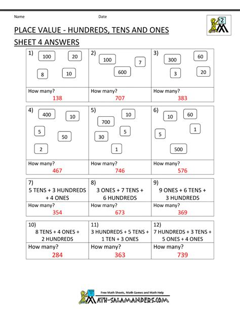 Printable Place Value Worksheets by Worksheet For Grade 1 Place Value Best Ideas About Place Value Worksheets On