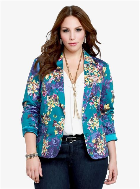 colorful plus size blazers fitted print blazers for plus size wardrobelooks