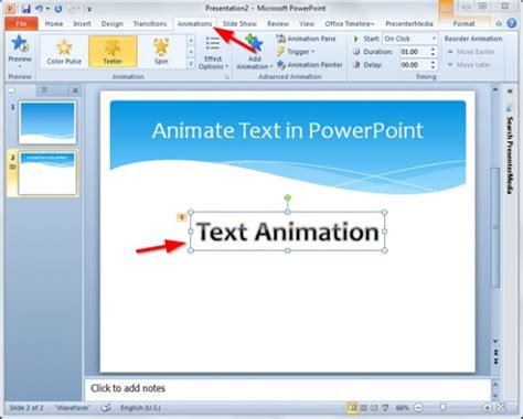 how to animate text in powerpoint slide powerpoint