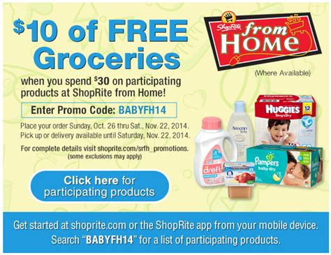 shoprite from home deals freebie deals living rich with