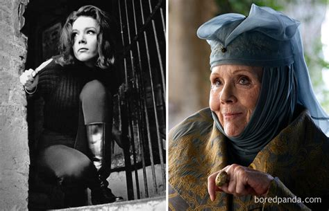 game of thrones actress rigg game of thrones star cast then and now cinemaprobe
