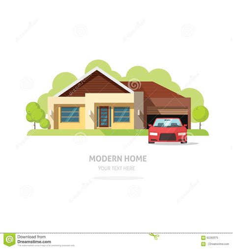 traditional and modern house family home flat design home facade contemporary modern flat style stock vector