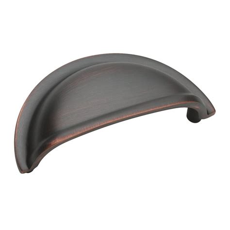cabinet cup pulls oil rubbed bronze amerock solid brass 3 inch center to center oil rubbed