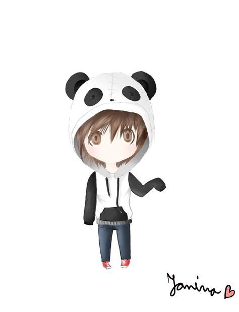 chibi panda boy by skyathekid on deviantart