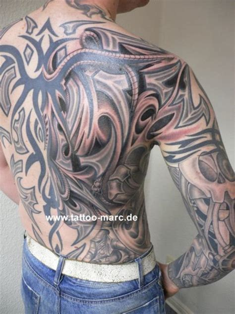 tattoo biomechanical tribal 84 amazing biomechanical tattoos on back