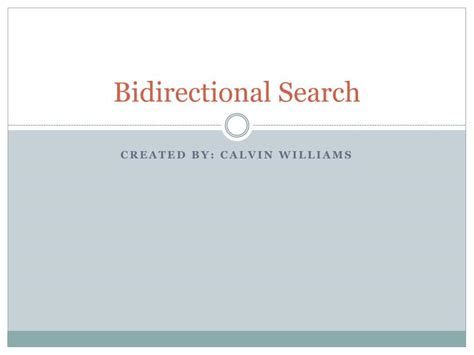 ppt bidirectional search powerpoint presentation id