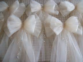 tulle pew bow 20 colors tulle church pew decor