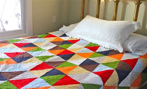 Solid Color Quilts Solid Colors Triangle Patchwork Quilt Quilts