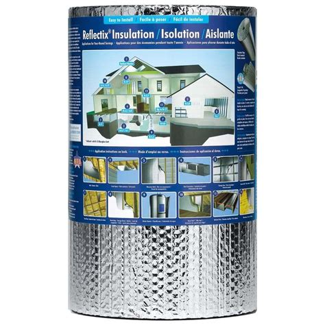 heat l lowes shop reflectix 33 3 sq ft reflective roll insulation 16