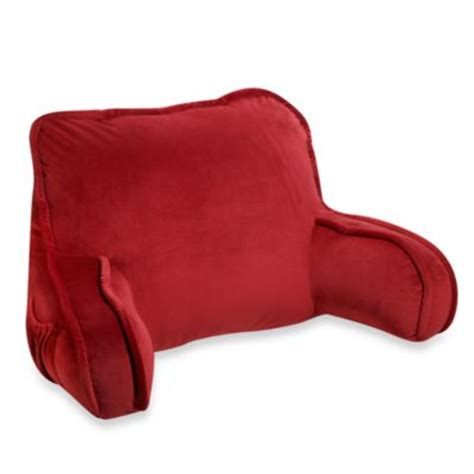 sitting pillow for bed buy plush backrest pillow from bed bath beyond