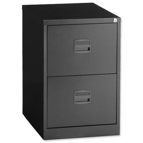 Black Filing Cabinet 2 Drawer by Trexus By Bisley 2 Drawer Foolscap Filing Cabinet Black