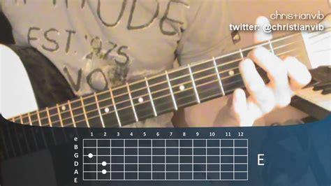 youtube tutorial de guitarra acustica c 243 mo tocar guitarra ac 250 stica leccion 4 acorde de mi