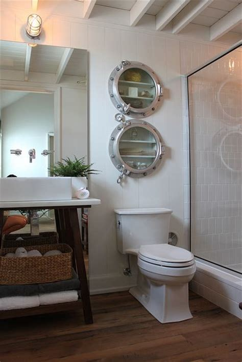 Porthole Windows Bathroom Decorating Nautical Bathroom With Porthole Medicine Cabinets Nautical Decor