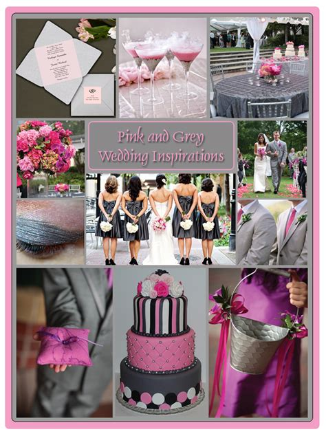 wedding color idea pink and grey white silver oooo now i love my life i love you theme color
