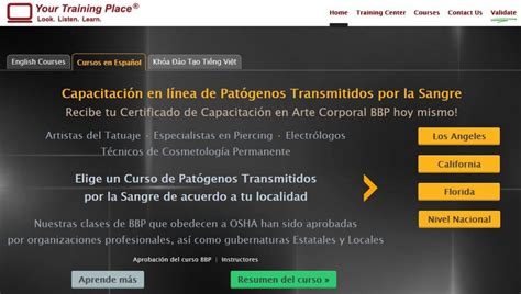 online tattoo training courses online bloodborne pathogens classes now offered in spanish