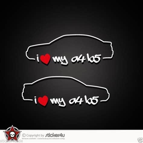 Audi A4 B5 Quattro Aufkleber by 846 2x I Love My Audi A4 B5 Sticker Aufkleber Vag Turbo