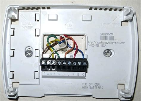 honeywell heat thermostat wiring diagram wiring