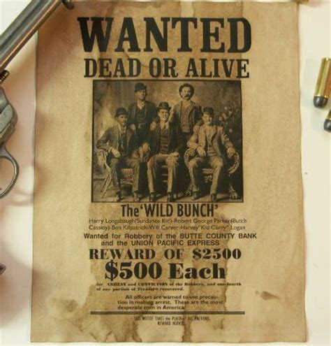 wild bunch old west wanted poster to be traditional and