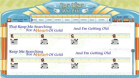 strumming pattern heart of gold heart of gold neil young guitaraoke chords lyrics