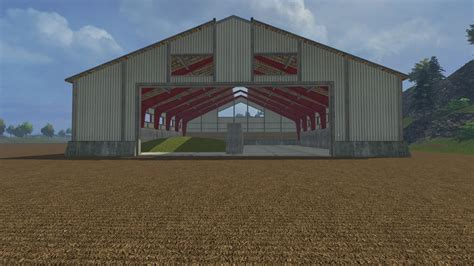 silage shed building v 1 0 farming simulator 2015 15 mod