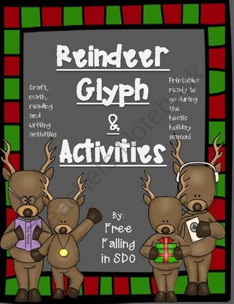 printable reindeer glyph reindeer glyph extra activities crafts printables