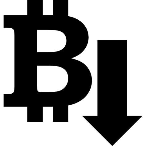 bitcoin down bitcoin down arrow free arrows icons