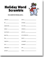 printable christmas scramble games printable hanukkah party games and free hanukkah holiday