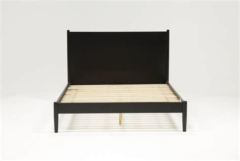 Black California King Platform Bed Alton Black California King Platform Bed Living Spaces