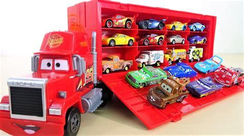 Disney Pixar Cars 3 Travel Time Mack Transporter Playset Dxy87 disney pixar cars 3 big mack truck 24 diecasts hauler tomica lightning mcqueen toys heavy