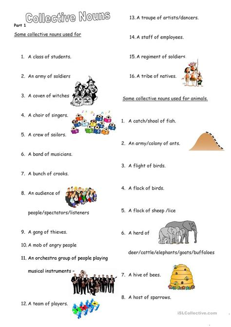 esl printable worksheet noun collective nouns june2015 worksheet free esl printable